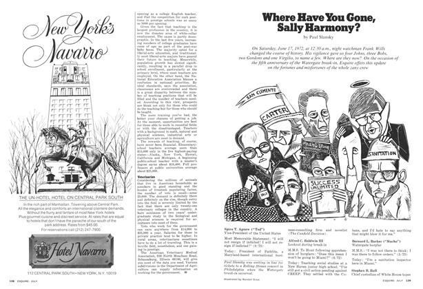 Article Preview: Where Have You Gone, Sally Harmony?, JULY 1977 1977 | Esquire