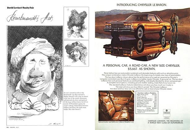 Article Preview: David Levine's Vanity Fair, JULY 1977 1977 | Esquire