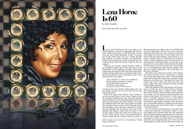 Article Preview: Lena Horne Is 60, AUGUST 1977 1977 | Esquire