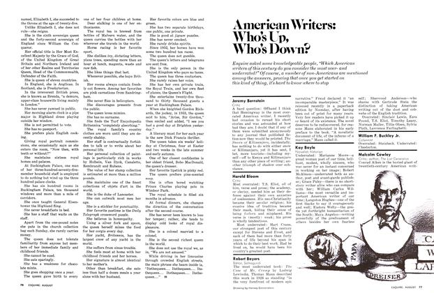 Article Preview: American Writers: Who's Up, Who's Down?, AUGUST 1977 1977 | Esquire