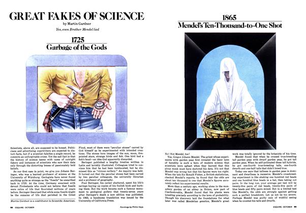 Article Preview: GREAT FAKES OF SCIENCE, OCTOBER 1977 1977 | Esquire