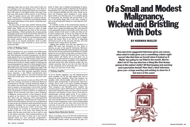 Article Preview: Of a Small and Modest Malignancy, Wicked and Bristling with Dots, NOVEMBER 1977 1977 | Esquire