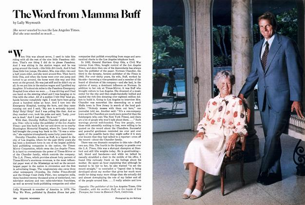 Article Preview: The Word from Mamma Buff, November 1977   Esquire