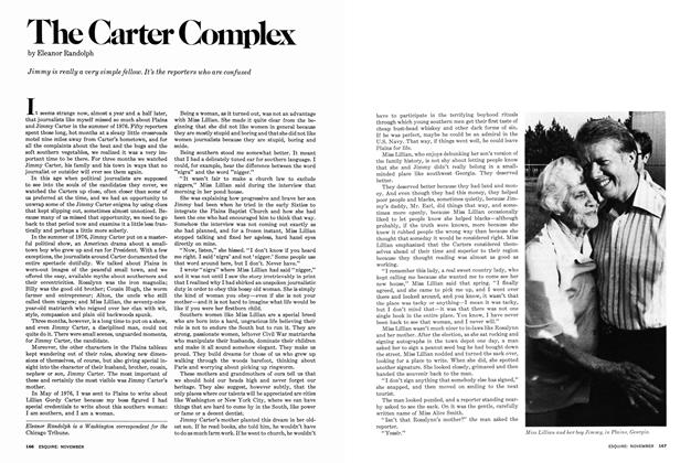 Article Preview: The Carter Complex, November 1977   Esquire