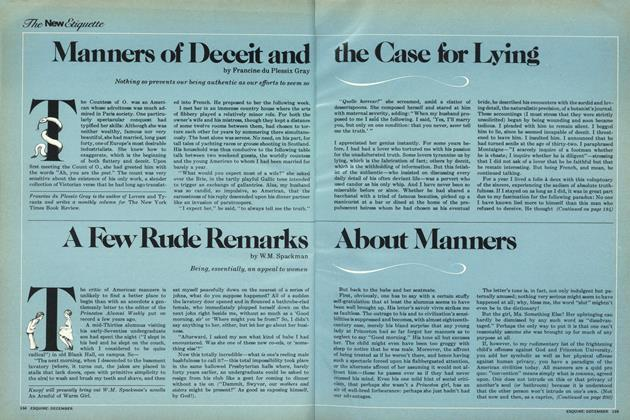 Article Preview: Manners of Deceit and the Case for Lying, December 1977 | Esquire