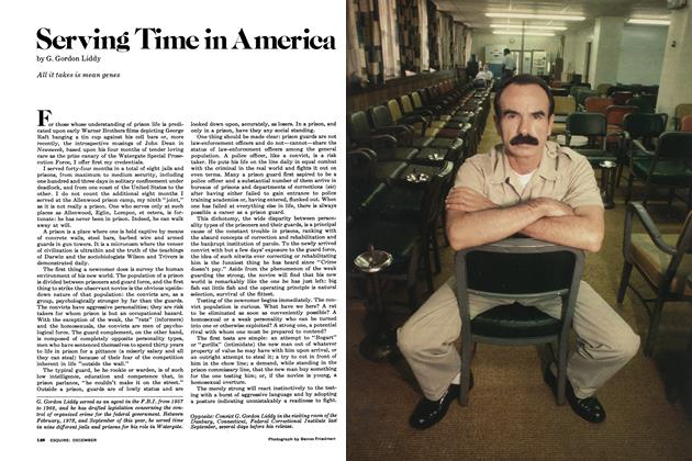 Article Preview: Serving Time in America, DECEMBER 1977 1977 | Esquire