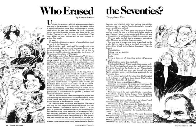 Article Preview: Who Erased the Seventies?, December 1977 | Esquire