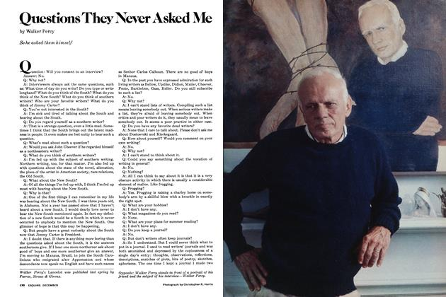 Article Preview: Questions They Never Asked Me, December 1977 | Esquire