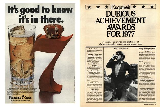 Article Preview: Esquire's Dubious Achievement Awards for 1977, January 1978 | Esquire