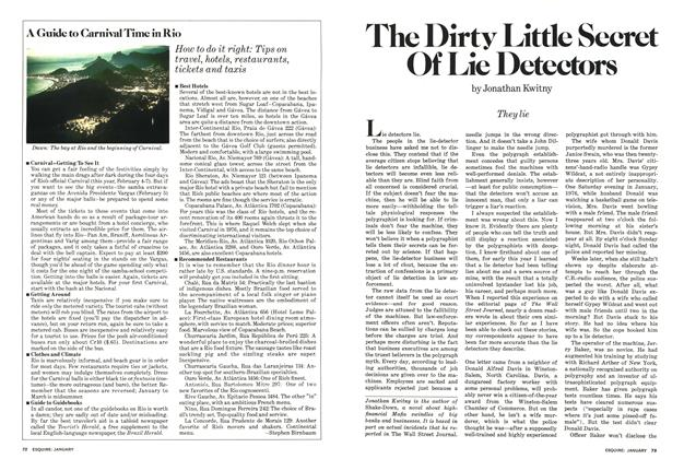 Article Preview: The Dirty Little Secret of Lie Detectors, January 1978 | Esquire