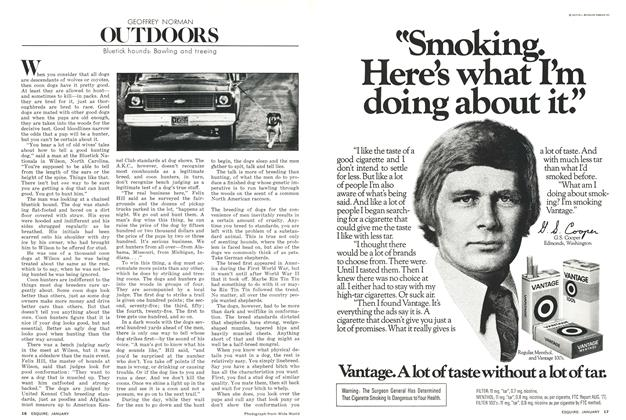 Article Preview: Outdoors, JANUARY 1978 1978   Esquire