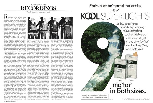 Article Preview: The First Totally Electronic Rock, FEBRUARY 1978 1978 | Esquire