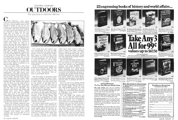 Article Preview: The Sportsman's Midwinter Dilemma, FEBRUARY 1978 1978 | Esquire