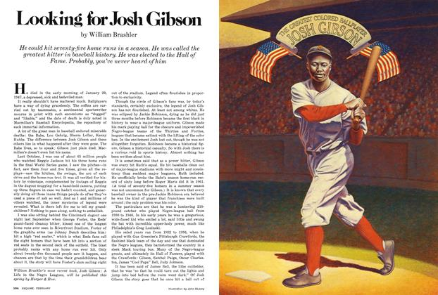 Article Preview: Looking for Josh Gibson, FEBRUARY 1978 1978   Esquire