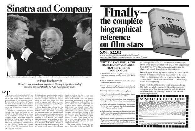 Article Preview: Sinatra and Company, FEBRUARY 1978 1978 | Esquire