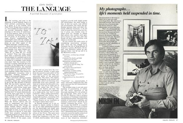 Article Preview: A Pointed Discussion of Punctuation, FEBRUARY 1978 1978 | Esquire