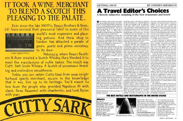 A Travel Editor's Choices