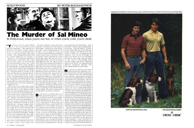 Article Preview: The Murder of Sal Mineo, March 1,1978 1978 | Esquire