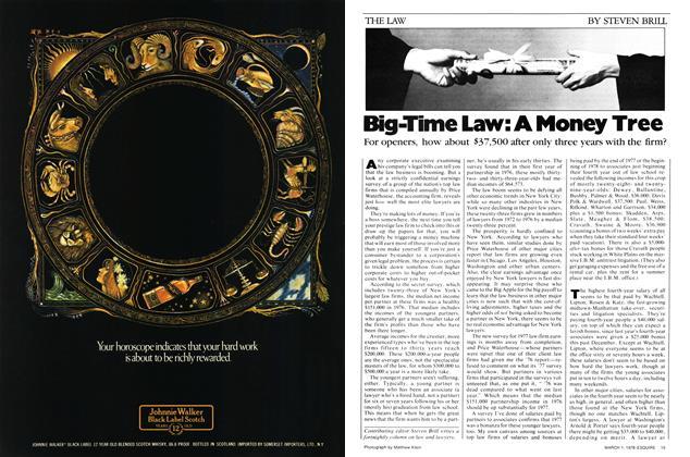 Big-Time Law: A Money Tree