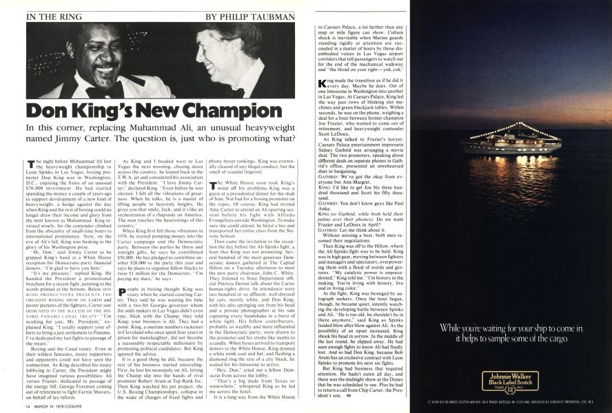 Don King's New Champion | Esquire | March 14, 1978