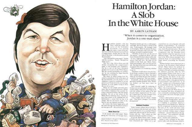 Hamilton Jordan: A Slob in the White House