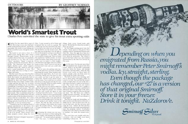 Article Preview: World's Smartest Trout, March 28, 1978 1978 | Esquire
