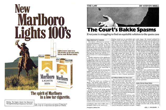 The Court's Bakke Spasms
