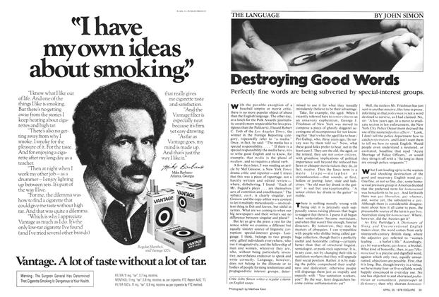 Article Preview: Destroying Good Words, April 25,  1978 | Esquire