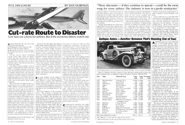 Cut-Rate Route to Disaster