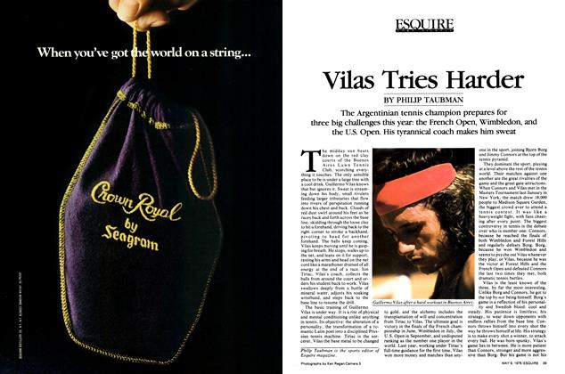 Article Preview: Vilas Tries Harder, May 9, 1978 | Esquire