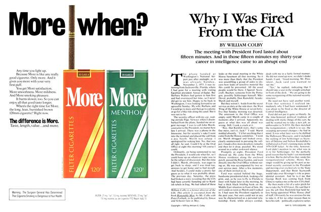Article Preview: Why I Was Fired From the CIA, May 9, 1978 1978 | Esquire