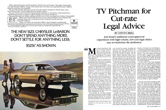 Article Preview: TV Pitchman for Cut-Rate Legal Advice, May 9, 1978 | Esquire