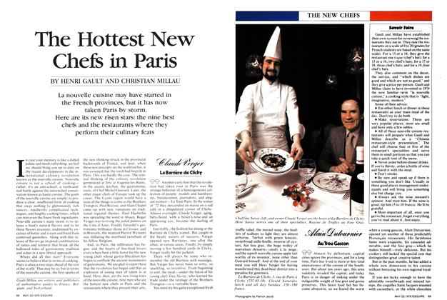 The Hottest New Chefs in Paris