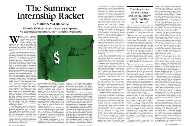The Summer Internship Racket