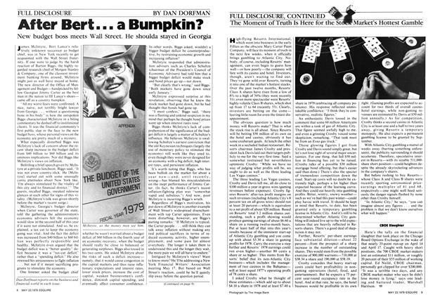 After Bert . . . a Bumpkin?