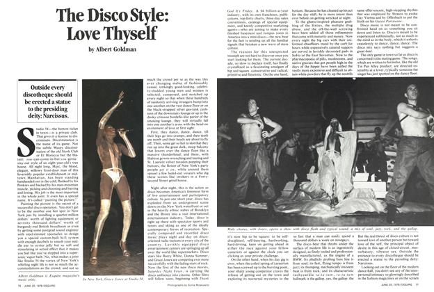 Article Preview: The Disco Style: Love Thyself, June 20, 1978 1978 | Esquire