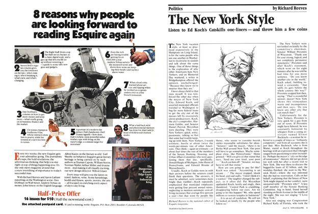 Article Preview: The New York Style, July 4, 1978 1978 | Esquire
