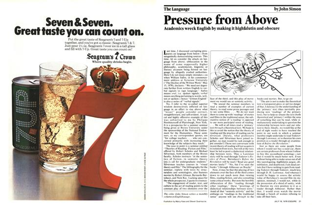 Article Preview: Pressure from Above, July 18,  1978 | Esquire