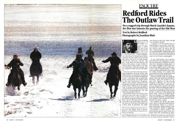 Redford Rides the Outlaw Trail