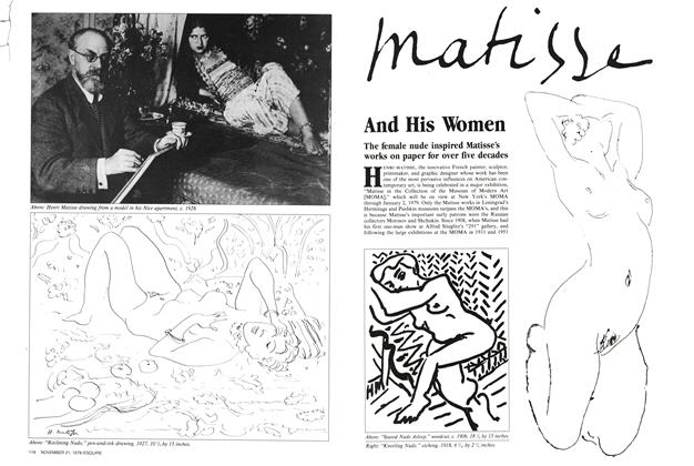 Article Preview: Matisse and His Women, November 21, 1978 1978   Esquire