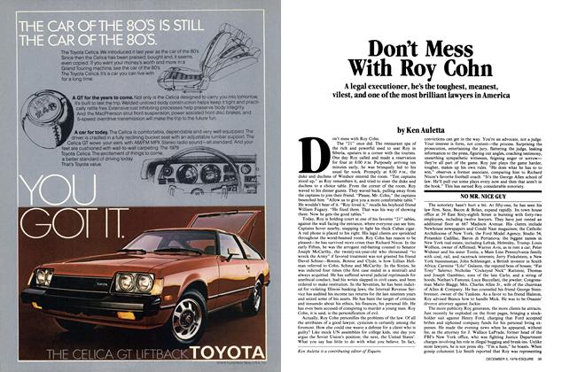 Article Preview: Don't Mess with Roy Cohn, December 5, 1978 1978 | Esquire