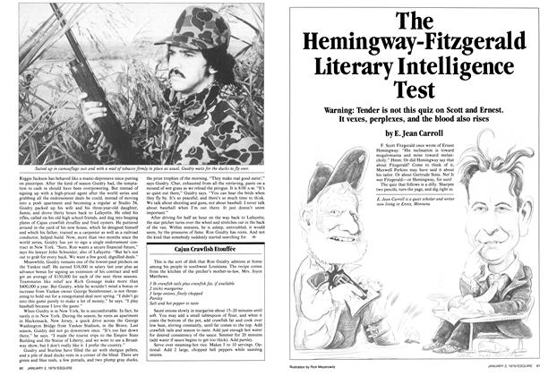 Article Preview: The Hemingway-Fitzgerald Literary Intelligence Test, January 2-16, 1979 1979 | Esquire