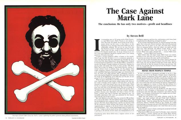 The Case Against Mark Lane