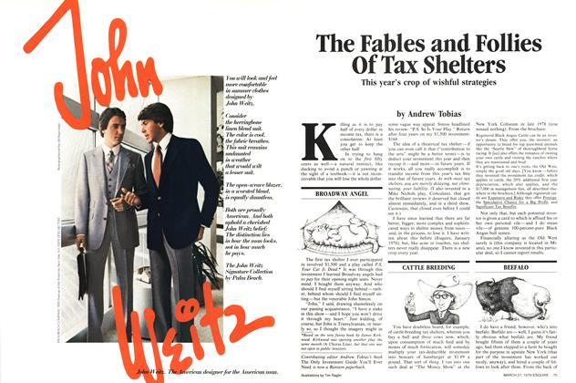 The Fables and Follies of Tax Shelters