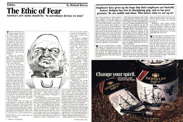 Article Preview: The Ethic of Fear, March 27, 1979 1979 | Esquire