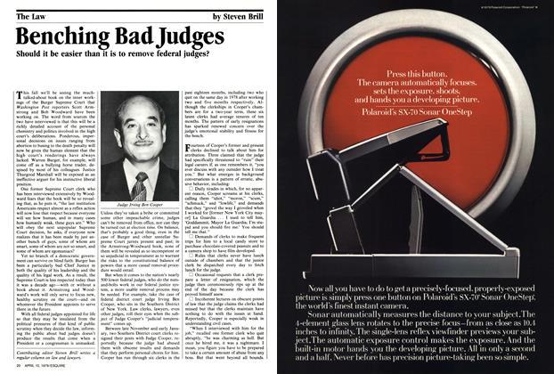 Benching Bad Judges
