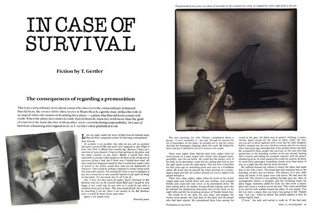 Article Preview: In Case of Survival, April 10,  1979 | Esquire