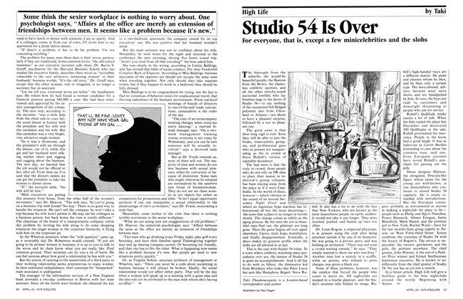 Studio 54 Is Over