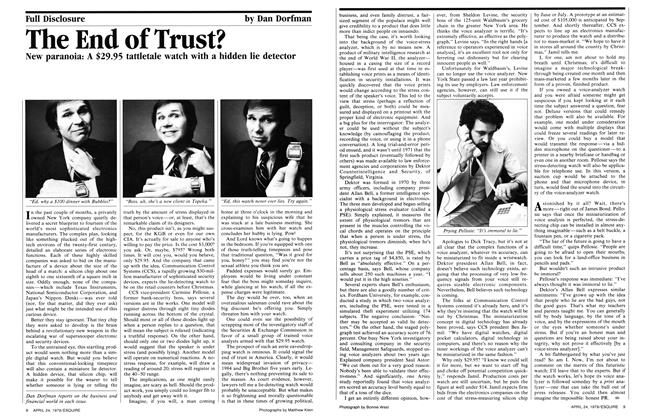 The End of Trust?