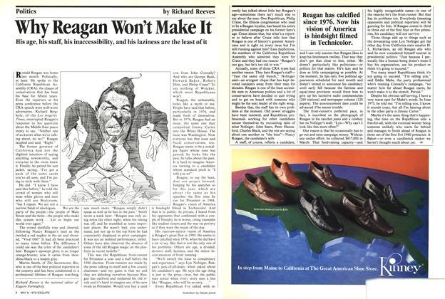 Why Reagan Won't Make It